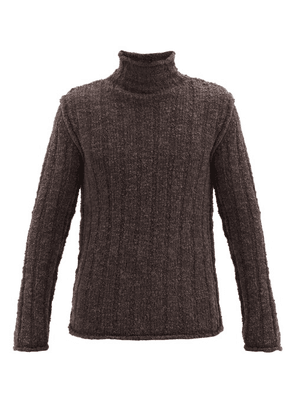 Dolce & Gabbana - Roll-neck Ribbed Wool-blend Sweater - Mens - Brown