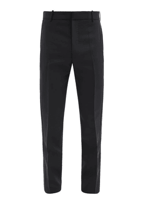 Alexander Mcqueen - Satin-faced Wool-blend Twill Suit Trousers - Mens - Black