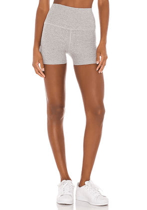Beyond Yoga High Waist 3 Inch Short in Light Grey. Size XS,M,L.