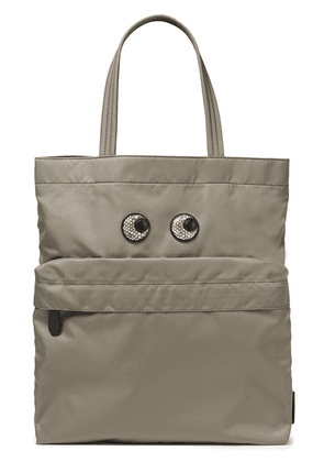 Anya Hindmarch Appliquéd Shell Tote Woman Mushroom Size --