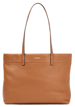 Dkny Pebbled-leather Tote Woman Brown Size --