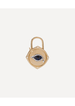 18ct Gold Lovelock Sapphire and Diamond Evil Eye Charm