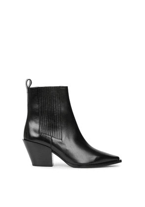 Aeyde Kate 80 Black Leather Ankle Boots