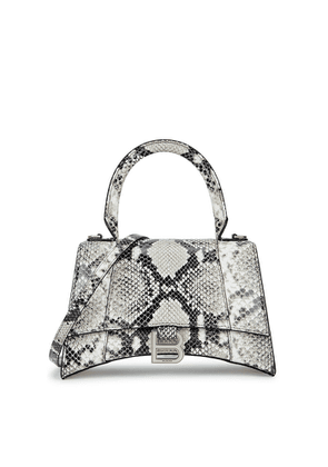 Balenciaga Hourglass Python-effect Leather Top Handle Bag