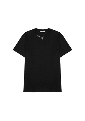 Givenchy Black Chain-embellished Cotton T-shirt