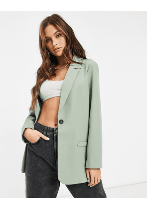 ASOS DESIGN mansy single breasted suit blazer in sage-Green