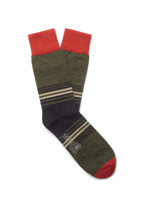 Corgi - Striped Wool-Blend Socks - Men - Unknown