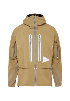 And Wander - Shell Hooded Jacket - Men - Neutrals