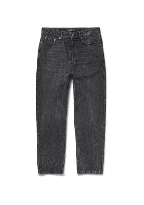 Balenciaga - Acid-Wash Denim Jeans - Men - Black