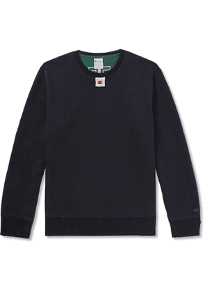 Champion - Craig Green Appliquéd Colour-Block Loopback Cotton-Blend Jersey Sweatshirt - Men - Green