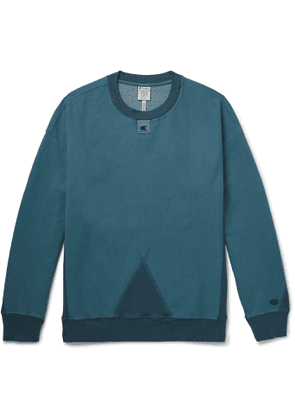 Champion - Craig Green Logo-Detailed Garment-Dyed Cotton-Blend Jersey Sweatshirt - Men - Blue