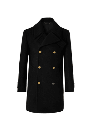 Dunhill - Double-Breasted Wool and Cashmere-Blend Peacoat - Men - Black