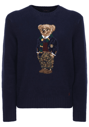 Preppy Bear Intarsia Wool Sweater