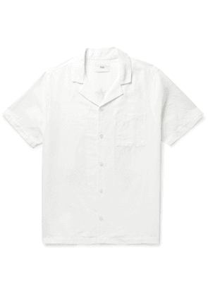 Folk - Daniel Johnston Camp-Collar Printed Linen Shirt - Men - White