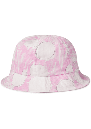 Folk - Printed Linen Bucket Hat - Men - Pink