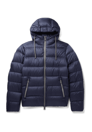 Herno - Quilted Shell Down Hooded Jacket - Men - Blue