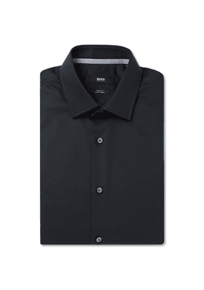 Hugo Boss - Slim-Fit Cotton-Poplin Shirt - Men - Blue