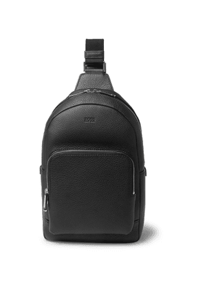 Hugo Boss - Crosstown Full-Grain Leather Backpack - Men - Black