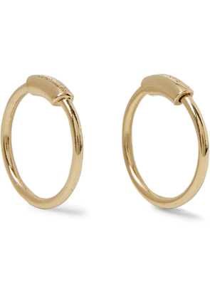 Maria Black - Gold-Plated Earrings - Men - Gold