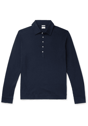 Massimo Alba - Ischia Cotton and Cashmere-Blend Polo Shirt - Men - Blue