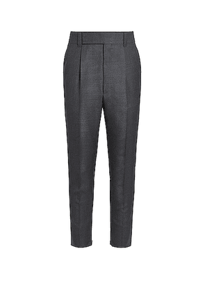 Fear of God Exclusively for Ermenegildo Zegna Single Pleat Trousers in Anthracite - Gray. Size 54 (also in 52).