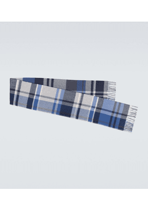 Large Royal College checked scarf