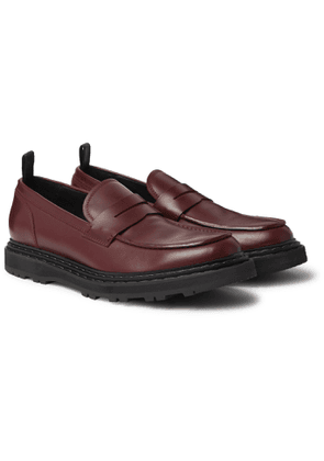 Officine Creative - Lydon Polished-Leather Penny Loafers - Men - Burgundy