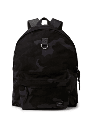 Porter-Yoshida & Co - Camouflage-Print Cordura® Nylon and Cotton-Ripstop Backpack - Men - Blue