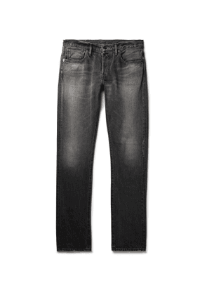 The Workers Club - Slim-Fit Raw Selvedge Denim Jeans - Men - Black