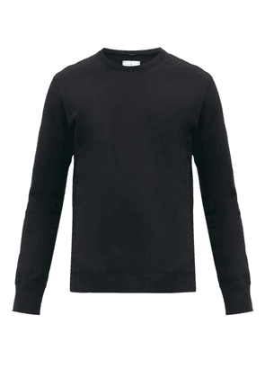Reigning Champ - Logo-patch Cotton-terry Sweatshirt - Mens - Black