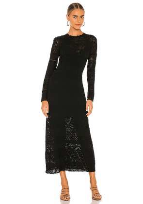 Alexis Volta Dress in Black. Size S,M,L.