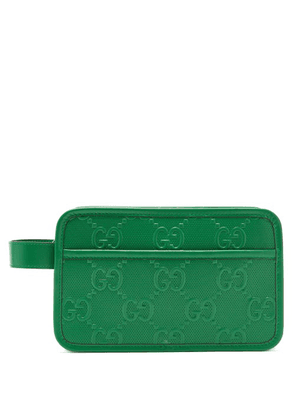 Gucci - GG Monogram Leather Wash Bag - Mens - Green