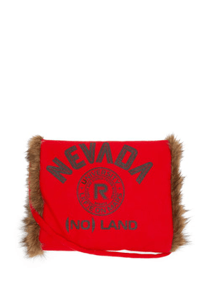 Raf Simons - Nevada Faux Fur-lined Wool Muff - Mens - Red