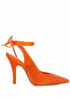 ATTICO WOMEN'S 202WS105TV07033 ORANGE FABRIC HEELS