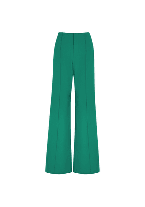 Alice + Olivia Dylan Teal Wide-leg Trousers