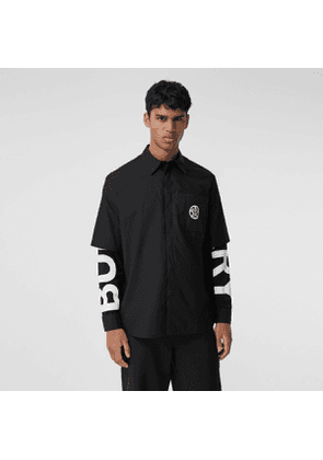 Burberry Globe Graphic Cotton Oversized Shirt