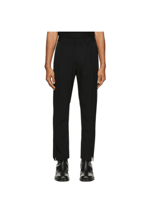 BED J.W. FORD Black Flare Trousers