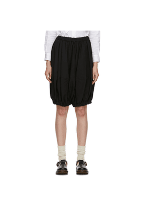 Comme des Garcons Girl Black Wool Cropped Trousers