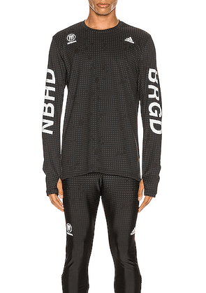 adidas Neighborhood Compression Tee in Black - Black,Abstract. Size S (also in ).