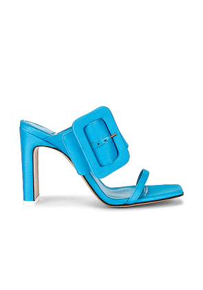 ATTICO Satin Buckled High Heel in Sky Blue - Blue. Size 36 (also in 40,41).