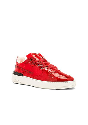 Givenchy Wing Low Top Sneaker With Logo in Red - Red. Size 40 (also in 41,42,43,44).