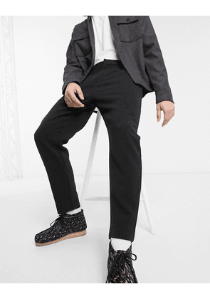 Weekday Mard tapered trousers in black