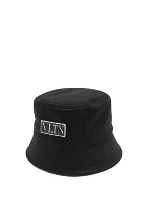 Valentino Garavani - Vltn Logo Plaque Canvas Bucket Hat - Mens - Black