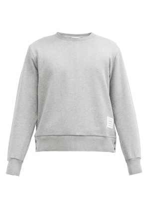 Thom Browne - Logo-patch Cotton-jersey Sweatshirt - Mens - Light Grey