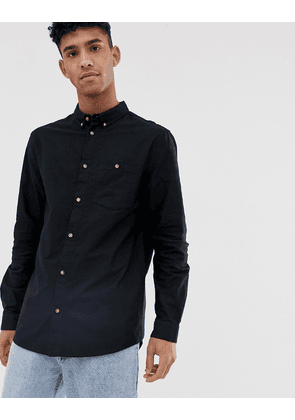 Weekday Bad Times oxford shirt in black