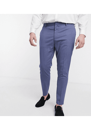 ASOS DESIGN Plus wedding super skinny suit trousers with micro texture in mid blue