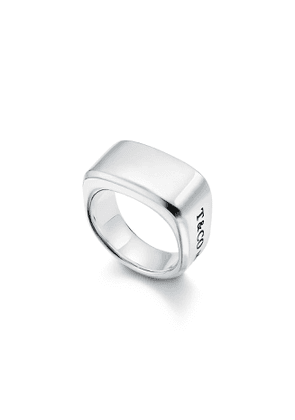 Tiffany 1837™ Makers signet ring in sterling silver, 12 mm wide - Size 7.5