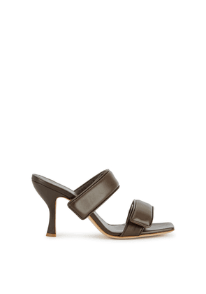 GIA COUTURE X Pernille Teisbaek 80 Brown Leather Sandals