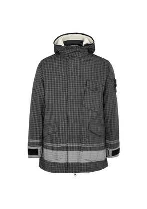 Stone Island Reflective Checked Ripstop Chiné Jacket