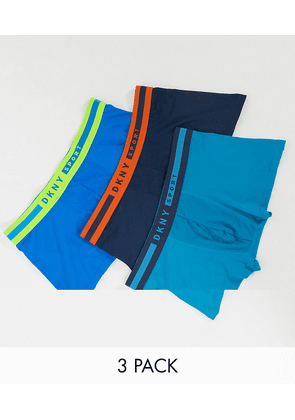 DKNY 3 pack tucson trunks in bue-Blue